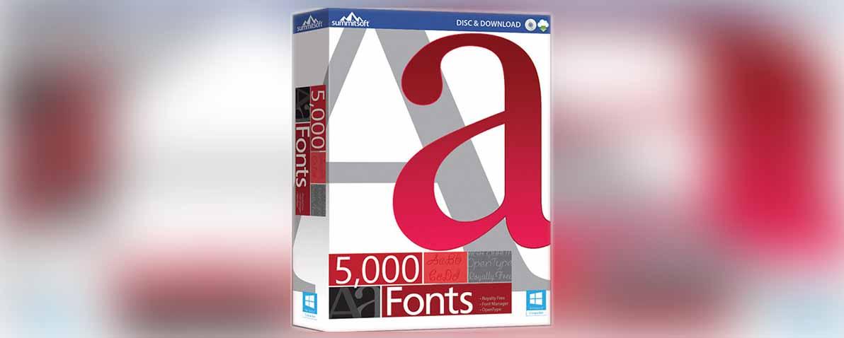 الموسوعة الرائعة للخطوط 2019 | Summitsoft 5000 Fonts 1.0.0