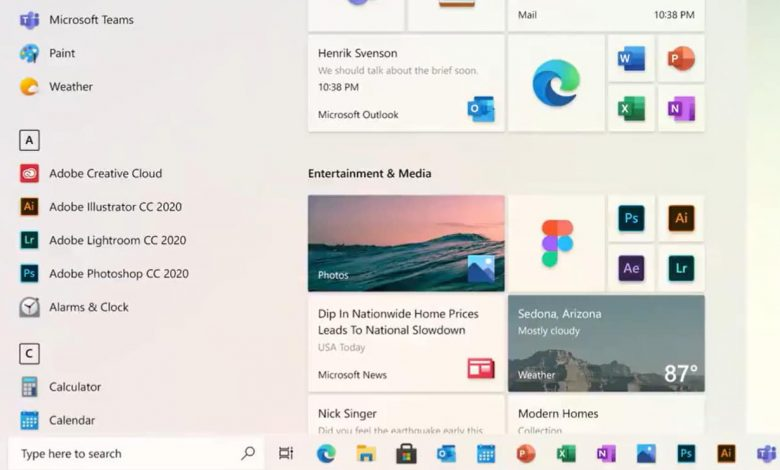 مايكروسوفت تعرض قائمة ابدأ الجديدة لنظام ويندوز 10