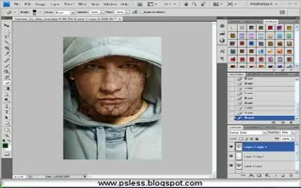 كيفية تحويل صورتك الشخصية إلى صورة مخيفة و مرعبة